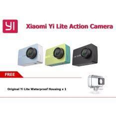 ขาย กล้อง รุ่นใหม่ กันสั่น Xiaomi Yi Lite 4K 1080P Action Camera Lcd Screen 2 Inch Eis Stabilization Sony Sensor เคสกันน้ำ สีดำ Yi ผู้ค้าส่ง