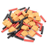 Xt60 Male Female Connectors Heat Shrink Tubing Set For R C Model Yellow Red Multi Color Intl ถูก