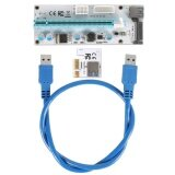 โปรโมชั่น Ybc Pci E Express 1X To 16X Extender Riser Card Adapter Usb 3 Led Sata 6 Pin Power Cable For Mining Intl Thailand
