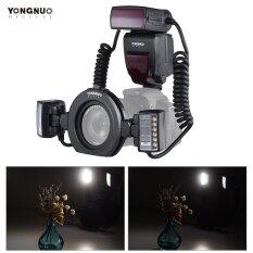 ราคา Yongnuo Yn24Ex E Ttl Macro Flash Speedlite 5600K With 2Pcs Flash Heads And 4Pcs Adapter Rings For Canon Eos 1Dx 5D3 6D 7D 70D 80D Cameras Intl เป็นต้นฉบับ