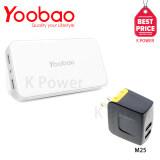ขาย Yoobao แบตสำรอง 20000 Mah รุ่น Power Bank Ultra M25 สีขาว Remax Adapter Usb Charger 3 4A 2Usb Rmt6188 Black ใน กรุงเทพมหานคร