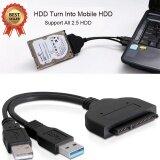 ขาย ซื้อ Usb3 To 2 5Inch Hdd Sata Hard Drive Cable Intl จีน