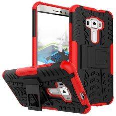 ซื้อ Ze552Kl Case Hard Pc Tpu Shockproof Tough Dual Layer Cover Shell For Asus 5 5 Zenfone 3 Red Intl ใน จีน