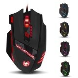 ราคา Zelotes T 90 8 Key Wired Usb Optical Game Mouse 9200Dpi With Led Backlit Display Intl ใหม่ ถูก