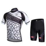 โปรโมชั่น 2016 Fastcute Brand Summer Quick Dry Short Sleeve Top And Shorts Cycling Jersey Bycicle Bike Breathable Wear Set Fc 0302