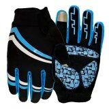 ขาย 2016 High Quality Brand New Gel Full Finger Men Cycling Motorbike Racing Sport Breathable Gloves M Blue ออนไลน์