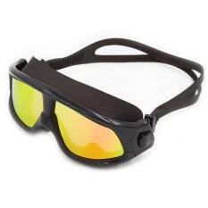 ขาย 2016 The Latest Style Whale Mirrored *D*Lt Swimming Mask Wide Vision Swim Mask Silicone Goggle With Polarized ผู้ค้าส่ง