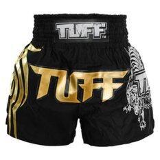 ราคา Tuff Muaythai Shorts King Cup Black Gold เป็นต้นฉบับ Tuff Sport