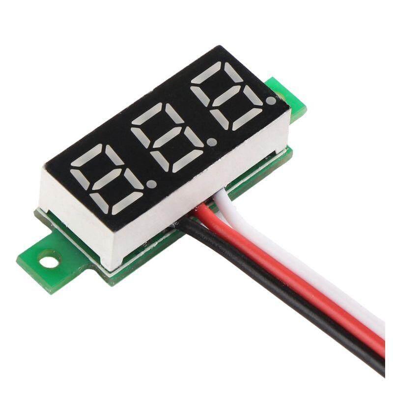 0.36 inch LED Ultra-small DC Digital 0~100V Voltmeter Battery Voltage Tester Green Display Car Motorcycle Panel Meter 3.0-30 Power Volt Detector Gauge