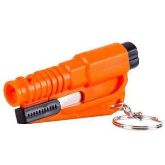 ResQMe Car Escape Rescue Tool Keychain Glass Breaker & Seatbelt Cutter-