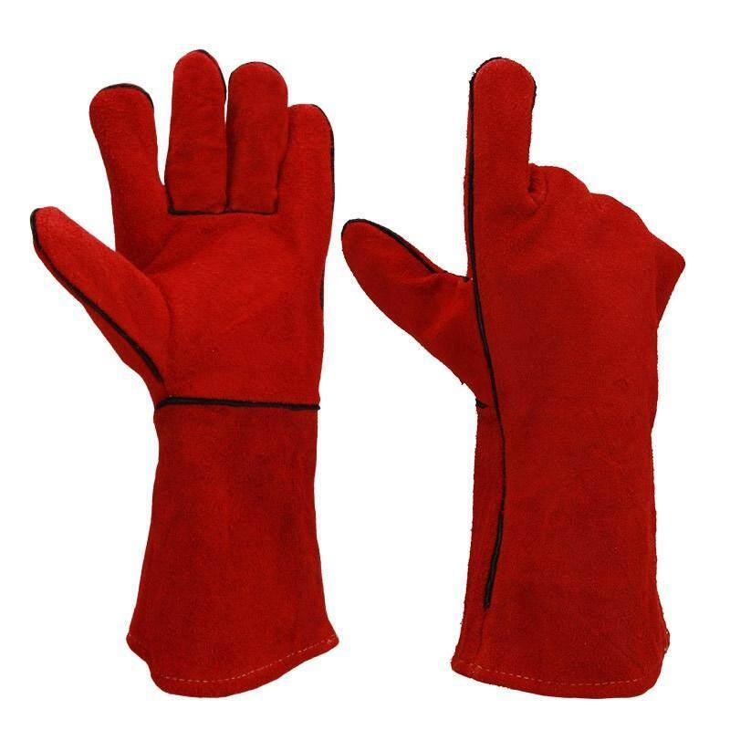 Welding Gloves - Heat/Fire Resistant, Perfect For Welder/Oven/Fireplace/Animal Handling/Bbq Gloves - 14Inches