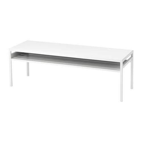โต๊ะกลาง+ท็อปแบบใช้ได้2ด้าน, สีขาว/เทาnyboda นือบอดา By Namsomshop.