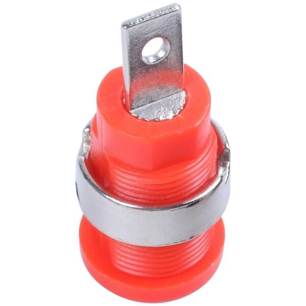 10 Pcs 4mm Safety Protection Plug Binding Post Banana Jack Black Red