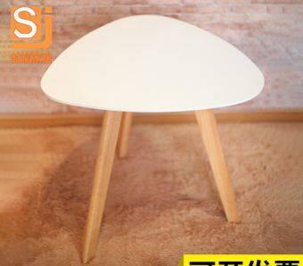BH โต๊ะเหลี่ยมสำหรับวางข้างโซฟา โต๊ะกาแฟ ขนาด 40 ซม. สีขาว