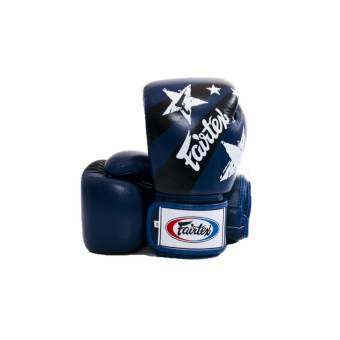 Fairtex Tight-Fit Design Gloves Nation Prints Collection - Blue