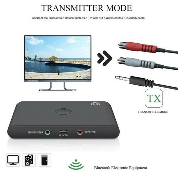 TX6 Bluetooth BT 5.0 Audio 3.5mm Transmitter Receiver Adapter 2 in 1 Support NFC Handsfree Headphone Reciever