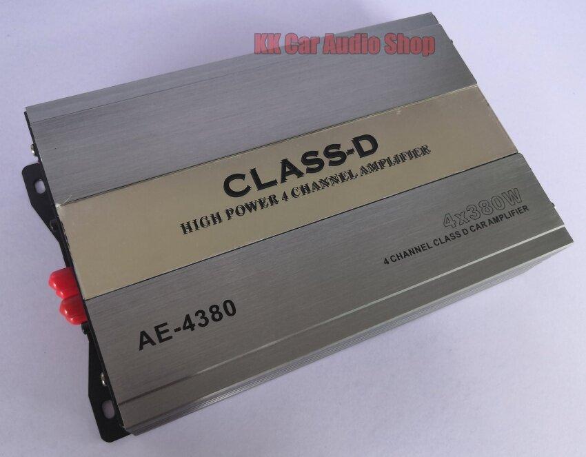 เพาเวอร์แอมป์ Class D 4 Ch 4x380 W รุ่น Ae-4380  พาวเวอร์แอมป์ คลาสดี 4 Ch ระบบ Mosfet ตัวแรง.