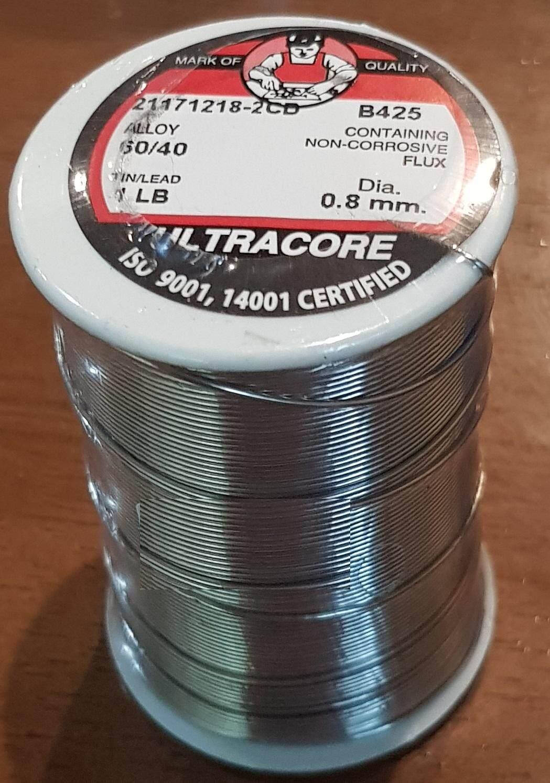 ตะกั่ว บัดกรี ULTRACORE 60/40 0.8 mm. 1 LB.