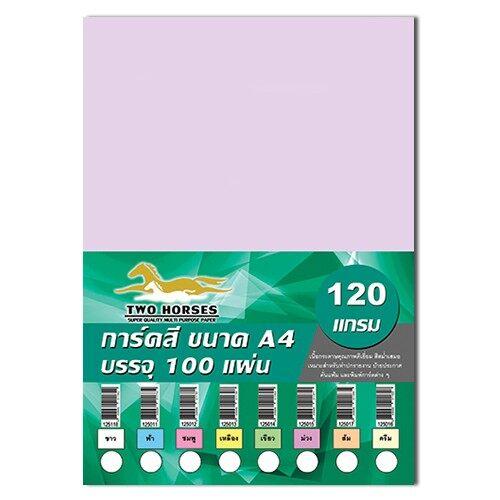 กระดาษสี 120แกรม A4 บรรจุ100แผ่น.
