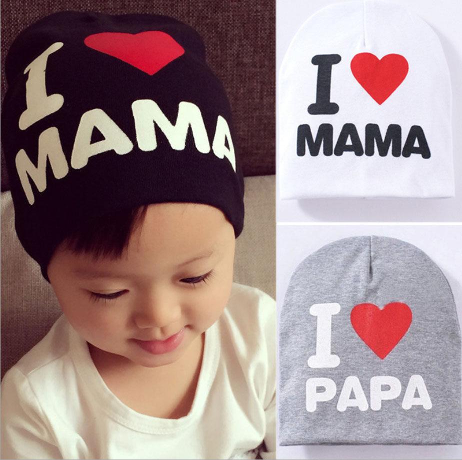 หมวกเด็ก I Love Mama, I Love Papa.