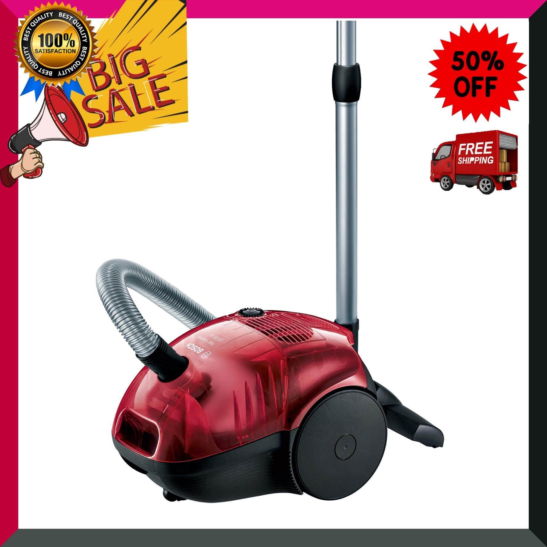 เครื่องดูดฝุ่น BOSCH รุ่น BSD3081 สีแดงเชอร์รี่-ดำ เครื่องดูดฝุ่น เครื่องทำความสะอาด เครื่องดูดฝุ่นอัตโนมัติ หุ่นยนต์ดูดฝุ่น Vacuum Cleaner สินค้าคุณภาพ Premium ***จัดส่งฟรี***