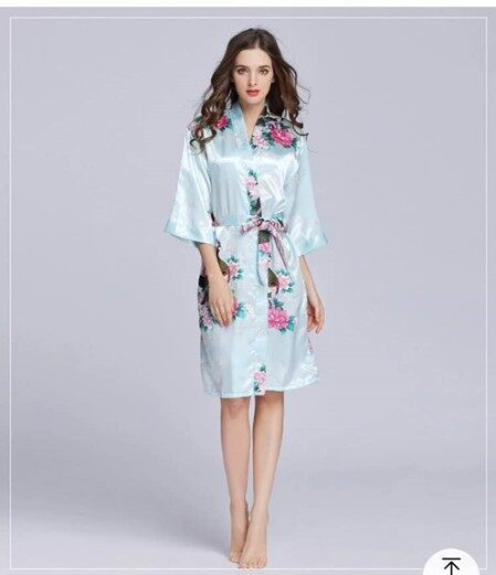 ชุดนอนหญิงฤดูร้อนกิโมโนชุดนอนนกยูงนกยูงลูกไม้เสื้อคาร์ดิแกนวอร์มฤดูร้อนผ้าไหมชุดนอนชุดนอนชุดนอนหญิง.