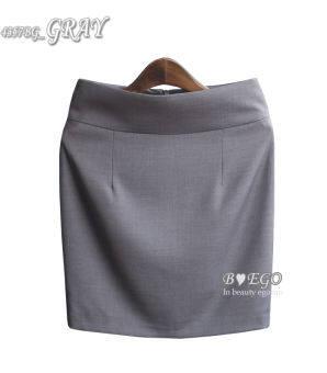 กระโปรงสูทชุดทางการกระโปรงเสื้อผ้าหญิงกระโปรงทรงกระบอกอาชีพกระโปรง OL เสื้อผ้าแฟชั่น ทำงานกระโปรงแลดูผอมแนบสะโพกกระโปรง 5 ส่วนกระโปรงสั้นสีเทาฤดูร้อน