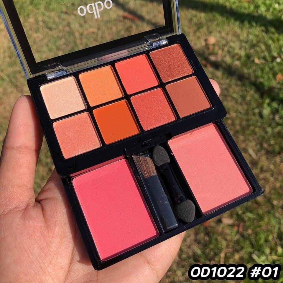 ! NEW OD1022 โอดีบีโอ อายแชโดว์ แอนด์ บลัช อายแชโดว์ 8 เฉดสี odbo eyeshadow and blush