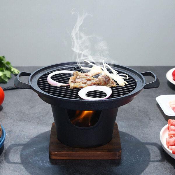 Gia Đình Di Động Hợp Kim Nhôm Dụng Cụ Nướng BBQ Phụ Kiện Vỉ Nướng Than Bếp Nướng Hun Khói Rang Xay Mini Nướng BBQ