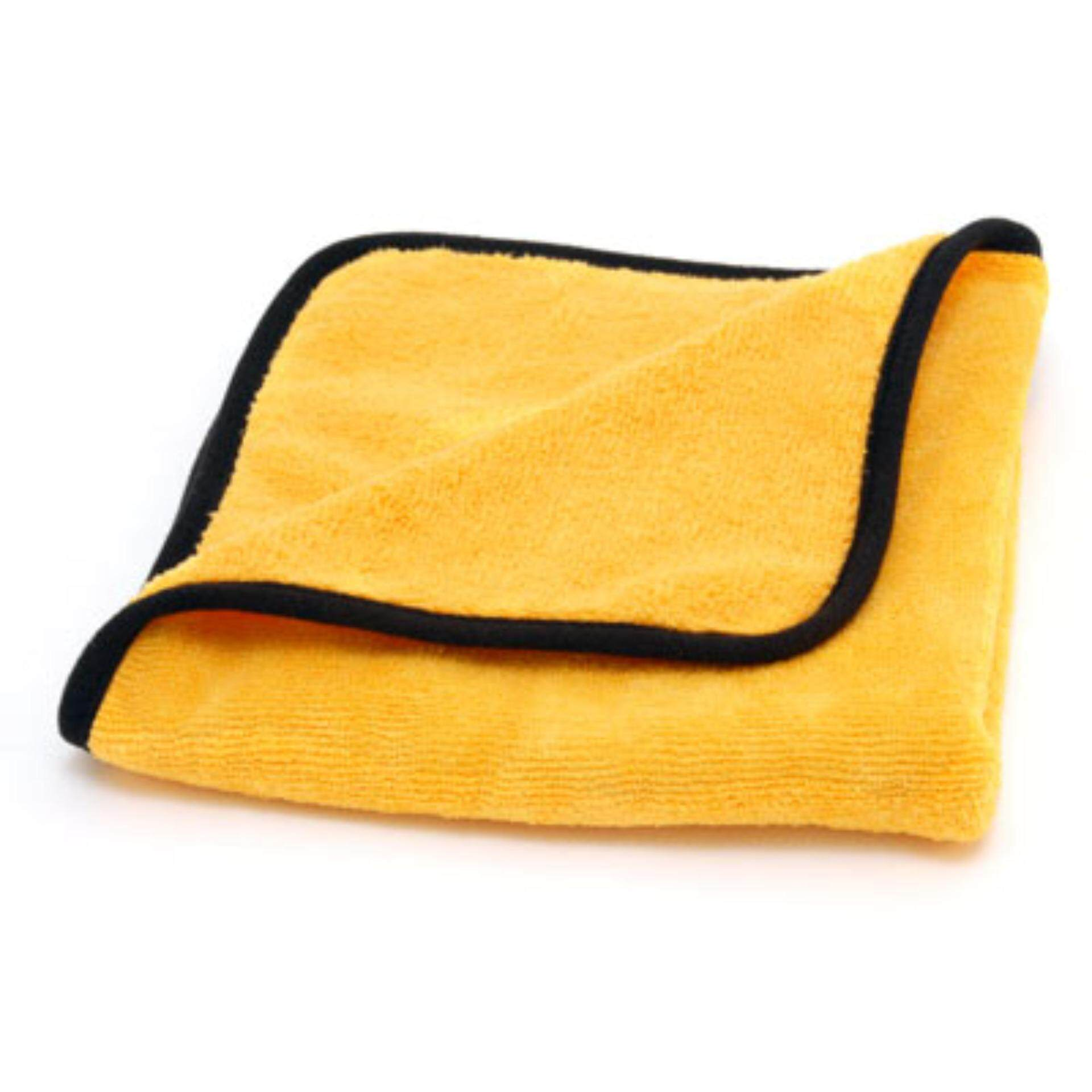 ผ้าไมโครไฟเบอร์เช็ดรถ Cobra Gold Plush Jr. Microfiber Towel 16*16 Inch By Waxahollic.