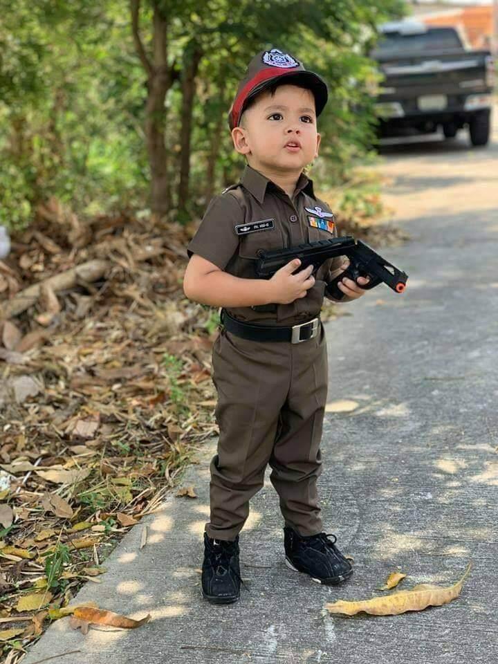 รีวิว ชุดตำรวจเด็ก ชายหญิง ได้ครบชุด เข็มขัด หมวก เหมือนจริงงานตรงปก