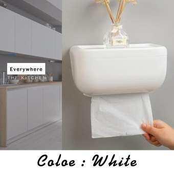 มีให้เลือก 3 สี กล่องใส่ทิชชู่ กล่องใส่กระดาษชำระ กันน้ำพร้อมที่วางของด้านบน ติดได้หลายที่ไม่ว่าจะเป็นห้องน้ำห้องครัว