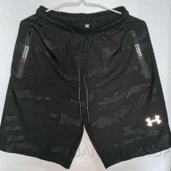 Under Armour ชายกางเกงขาสั้นกีฬาฤดูร้อนวิ่งออกกำลังกายเอวยางยืด-