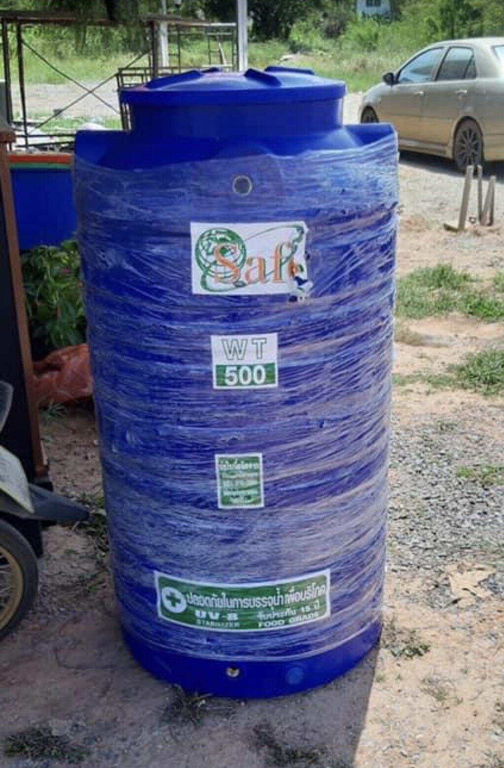 ถังเก็บน้ำ 500 ลิตร ถังเก็บน้ำบนดินพีอี แท้งค์น้ำ มอก.816-2556 ส่งฟรีกรุงเทพและปริมณฑล มาตรฐาน มอก.816-2556 Food Grade