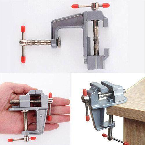 Big House 3.5Inches Aluminum Small Jewelers Hobby Clamp Tabletop Vise Tool(Silver)