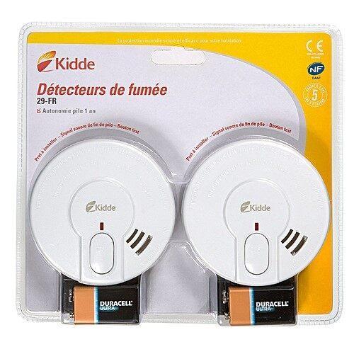 Kidde BI-PACK29-FR อุปกรณ์ตรวจจับควันไฟแบบไร้สาย - Smoke Alarm Detector with Battery