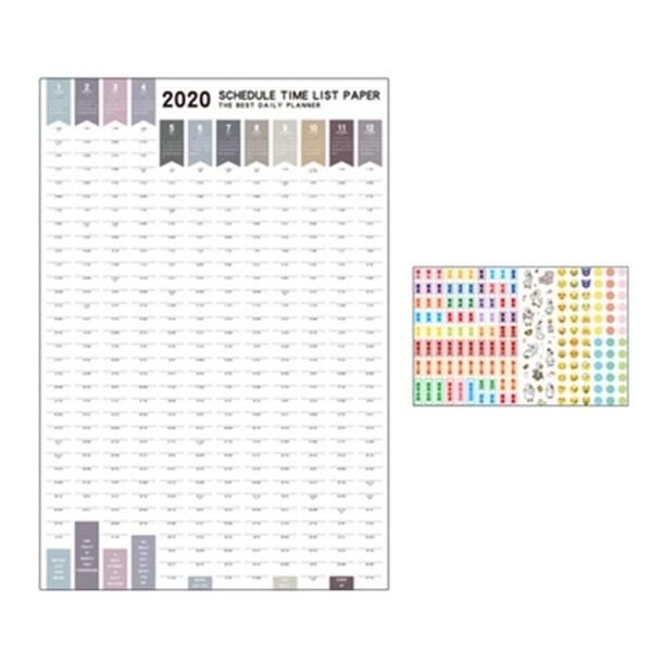 Mua Agenda 2020 365 Days Paper Wall Calendar Daily Planner Notes Very Large Study to DO LIST Kawaii School Supplies