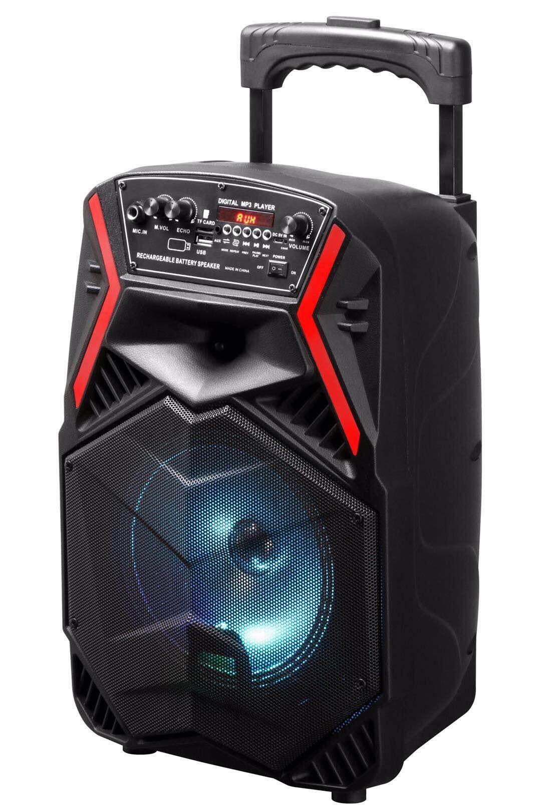 ลำโพงบลูทูธ ลำโพงเคลื่อนที่ Loudspeaker รุ่น Mn-08- 09เสียงดี เสียงดัง ขนาด 8 นิ้ว ล้อลาก !!!ฟรีไมค์ By Qw Shop.