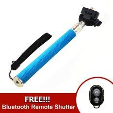 ทบทวน Monopod Selfie Handheld Z07 1 Blue Ab Bluetooth Shutter Black Monopod