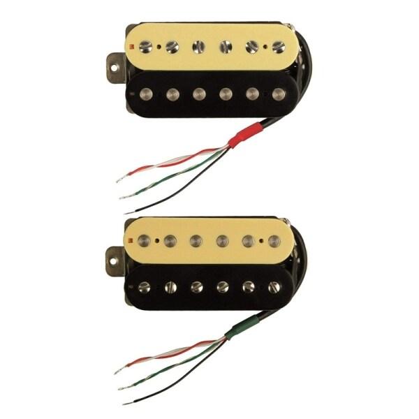 2 Pcs Electric Guitar Humbucker Pickups Alnico V Pickup (Zebra + Black), Neck Pickup & Bridge Pickup