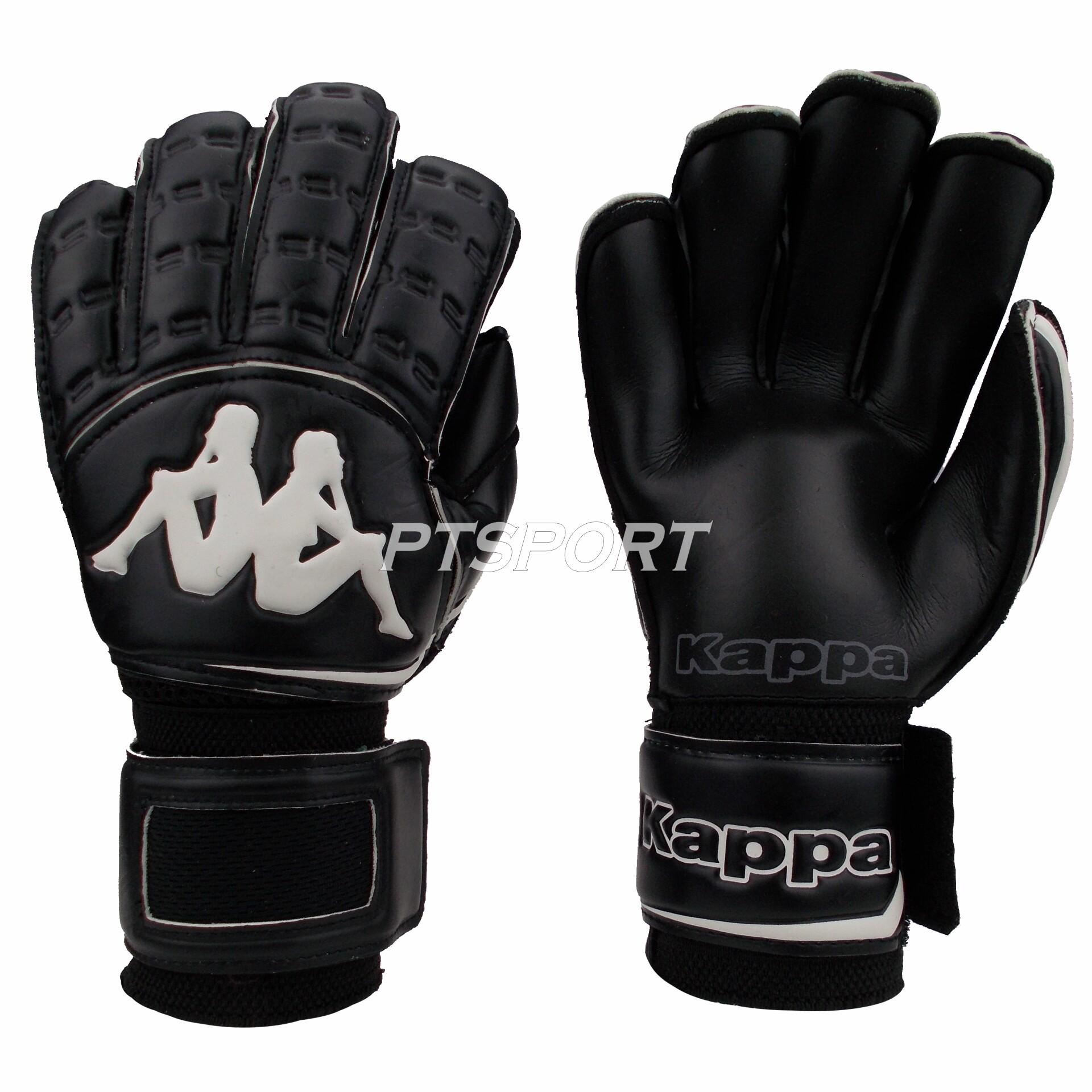 ถุงมือผู้รักษาประตู ถุงมือโกลว์ Kappa Gv-1512 มี Finger Save สีดำ.