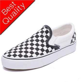 Van CLASSIC Men Women Shoes Sneakers Sport Shoes Fashion Casual Shoes Checkerboard SLIP - ON รองเท้าผ้าใบสีดำและสีขาวตรวจสอบรองเท้า, รองเท้าผ้าใบ (35-44)-