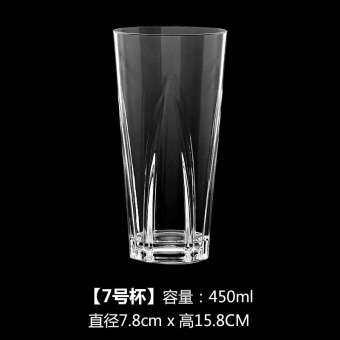 ตกไม่แตกพลาสติกโปร่งใสแก้วชานมถ้วยน้ำผลไม้แก้วน้ำดื่มถ้วยไอศกรีมคริลิค PC ถ้วยใส่ของหวานเครื่องดื่มเย็นถ้วย