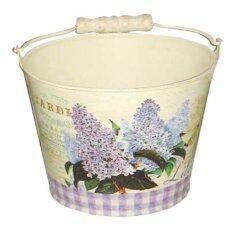 ราคา U Ro Decor กระถางดอกไม้ ทรงถังน้ำมีหูหิ้ว รุ่น Lilac M U Ro Decor