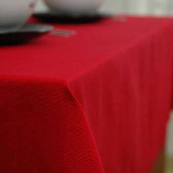 สีแดงผ้าปูโต๊ะผ้าปูโต๊ะผ้าคลุมโต๊ะทานข้าวผ้าปูโต๊ะแผ่นรองโต๊ะผ้าปูโต๊ะอาหารฝ้าย100% ผ้าเส้นใยสีเดียวสีแดงสไตล์ยุโรปสี่เหลี่ยมผืนผ้า