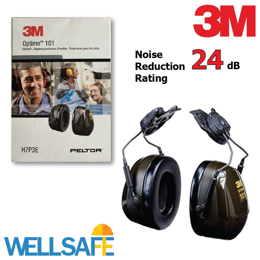 ตัวแทนจำหน่าย! ที่ครอบหูลดเสียงแบบติดหมวก 3M รุ่น H7P3E Optime 101 ที่ครอบหูกันเสียง Earmuff อุดหู ลดเสียง เสียงดัง หูฟัง ป้องกันหู 3เอ็ม ที่ลดเสียงประกอบหมวกนิรภัย