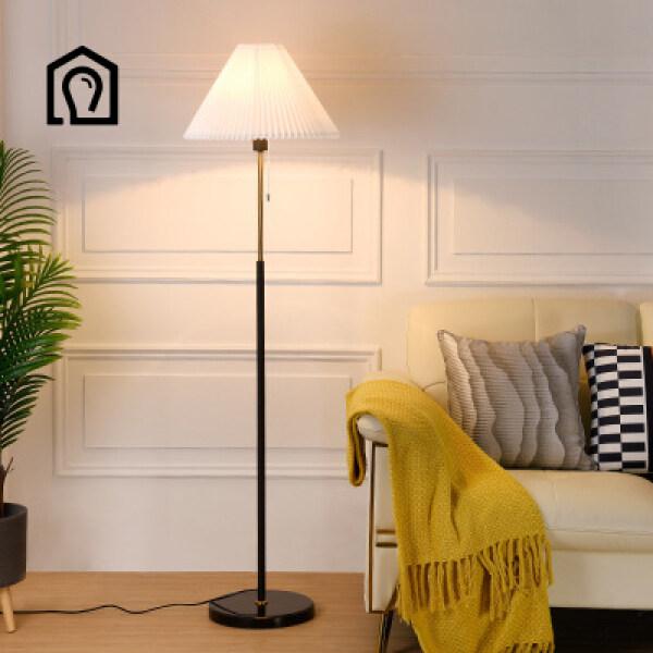 Bảng giá IHB137 Đèn sàn xếp ly Phòng khách kiểu Mỹ Phòng ngủ Nghiên cứu Đèn đầu giường Kiểu Bắc Âu Đơn giản Hiện đại LED Đèn sàn sáng tạo