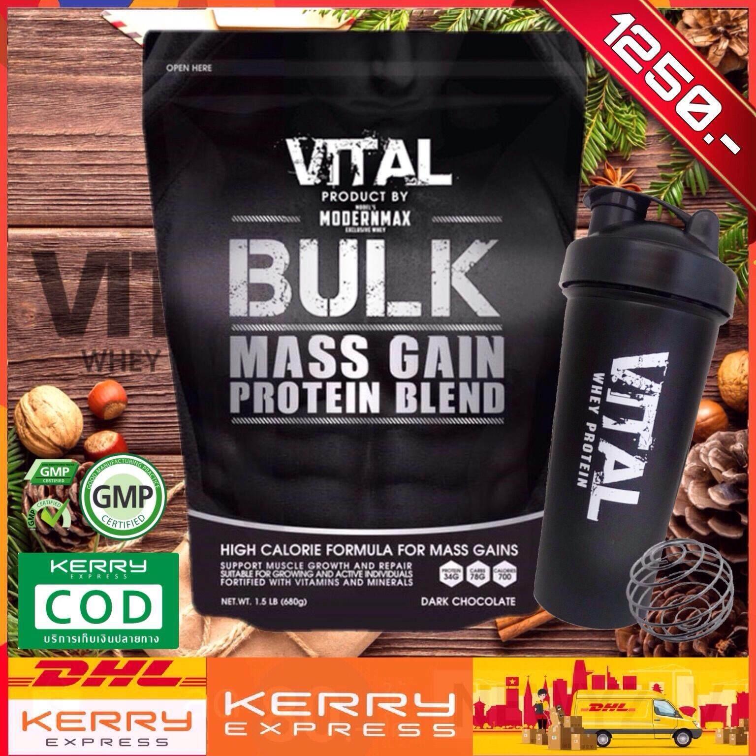 ⭐️ ส่งฟรี...พร้อมแก้วเชคเกอร์ Vital Bulk สูตรเพิ่มน้ำหนัก - เสริมสร้างมวลกล้ามเนื้อ เก็บปลายทางฟรี 1-2 วัน