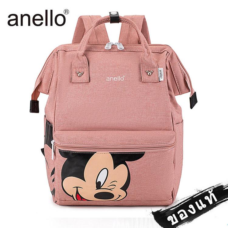 พร้อมส่ง‼️ กระเป๋า Anello Mickey ใบใหญ่ มี 5 / กระเป๋า Anello Đisnēy 2019 Polyester Canvas Backpack Limited.