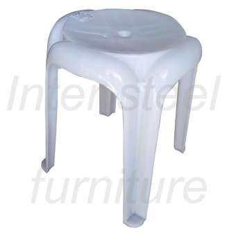 Inter Steel เก้าอี้พลาสติก รุ่น Stool plastic chair01(A) (สีขาว)-